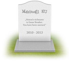 R.I.P. Mabinogi EU